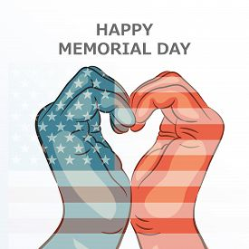 pic of memorial  - illustration of a hand for Happy Memorial Day - JPG