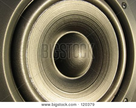 Closeup Of A Loudspeaker Element poster