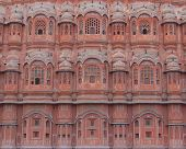 stock photo of radha  - the hawa majal in rajasthan also known as the wind palace - JPG