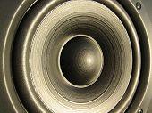 Closeup Of A Loudspeaker Element poster