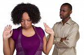 stock photo of angry  - Angry African American Couple - JPG