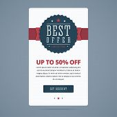 Постер, плакат: Best sale banner with best offer stamp