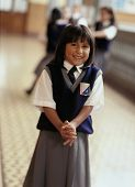 picture of young girls  - Young girl in private school uniform - JPG