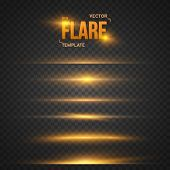 Vector Flare Effect. Transparent Vector Overlay Lens Flare Ray E poster