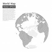 Dotted World Map Background. Earth Globe. Globalization Concept. poster
