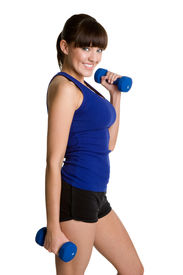 stock photo of workout-women  - Beautiful Fitness Woman - JPG