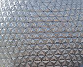 picture of geodesic  - Triangular pattern created by the texture of a geodesic dome - JPG