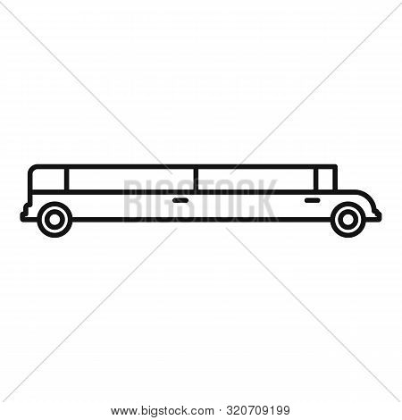 poster of Vip Limousine Icon. Outline Vip Limousine Vector Icon For Web Design Isolated On White Background