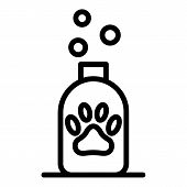 Dog Shampoo Icon. Outline Dog Shampoo Vector Icon For Web Design Isolated On White Background poster