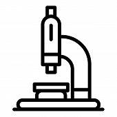 Vet Microscope Icon. Outline Vet Microscope Vector Icon For Web Design Isolated On White Background poster