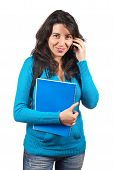 Student Woman Talking With Phone
