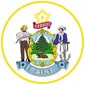 Coat Of Arms Of Maine Is The Northernmost State In The New England Region Of The Northeastern United poster