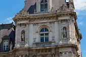 Fragment Of The Hotel De Ville (city Hall) In Paris, France. It Serves Multiple Functions, Housing T poster