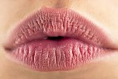 Perfect Natural Lip Makeup. Close Up Macro Photo With Beautiful Female Mouth. Beautiful Spa Tender L poster