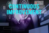 Text Sign Showing Continuous Improvement. Conceptual Photo Ongoing Effort To Improve Products Or Pro poster