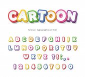 Cartoon Bright Font For Kids. Paper Cut Out Abc Letters And Numbers. Paper Cut Out. Colorful Alphabe poster