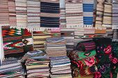 Uktainian Traditional Fabric Carpets For Sale On Sorochyntsi Fair Outroors. Local Traditions Of Ukra poster