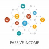 Passive Income Presentation Template, Cover Layout And Infographics. Affiliate Marketing, Dividend I poster