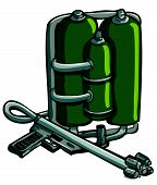 picture of flamethrower  - Cartoon drawing of flame thrower - JPG