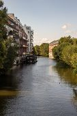 Picture From The River Elster In The Near From Karl Heine Canal.this Is A Beautiful Way For Waterspo poster