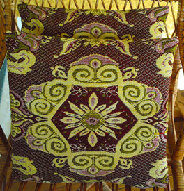 picture of pillowcase  - Vintage woolen pillowcases with handmade embroidery  - JPG
