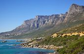 stock photo of 12 apostles  - The 12 Apostles seen from Victoria Road in the Cape Peninsula South Africa - JPG
