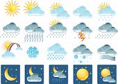 pic of hurricane clips  - 20 weather related icons - JPG