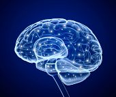 stock photo of neurology  - Brain impulses - JPG