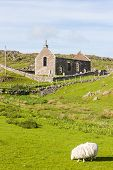 ruins of church in Stoer, Highlands, Scotland