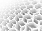 picture of membrane  - Abstract white honeycomb structure - JPG