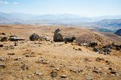 picture of megaliths  - stone landscape of Zorats Karer  - JPG