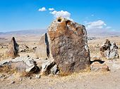 picture of megaliths  - big megalithic menhirs of Zorats Karer  - JPG