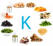 stock photo of potassium  - Products containing potassium - JPG