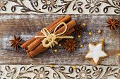picture of cinnamon sticks  - Spices - JPG