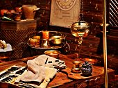 pic of panchakarma  - Couple  having oil Ayurveda spa treatment - JPG