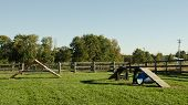 image of burlington  - Dog agility course in a public park in Burlington - JPG
