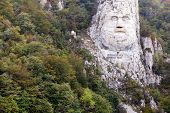 foto of rock carving  - Decebal - JPG