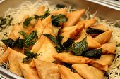 stock photo of samosa  - Indian Samosa spicy snack prepared snack in Northern India