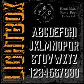 pic of grotesque  - Handmade retro font - JPG