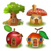 picture of grass bird  - fairytale houses - JPG