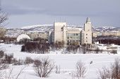 foto of murmansk  - Winter view of Murmansk city - JPG
