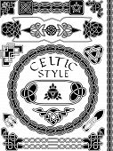 picture of celtic  - Set of elements of design in Celtic style  - JPG