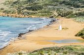 foto of gozo  - Ramla Beach the Red Sandy Beach with it - JPG