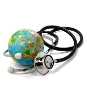 Stethoscope And Small Planet Earth