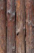 pic of log fence  - close up of wooden fence made of logs - JPG