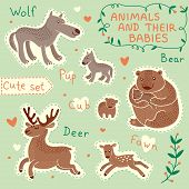 Baby and Mommy Animal Set