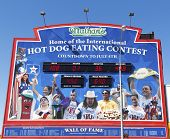 The Nathan s hot dog eating contest Wall of Fame