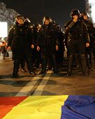 Demonstrators protest against a series of unpopular BUCHAREST, ROMANIA - JAN 19: Demonstrators prote