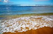 Kee Beach, Kauai, Hawaii poster