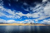 pic of jammu kashmir  - Himalayan mountain lake in Himalayas Tso Moriri  - JPG